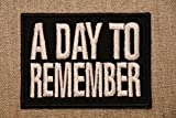 A Day to Remember Embroidery iron on / sew on patch
