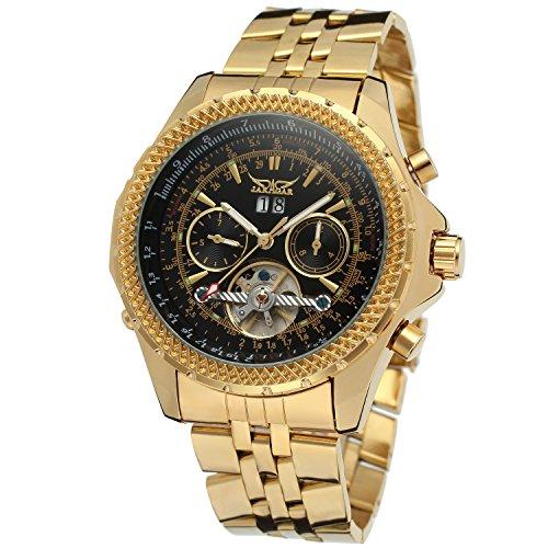 Forsining Men's Automatic-self-wind Tourbillon Brass Bracelet Watch JAG070M4G1