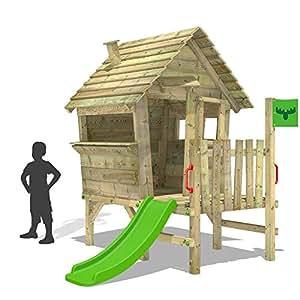 Fatmoose casette per bambini vanillavilla giochi in legno for Scivoli in legno per giardini