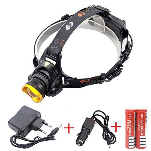 Preisvergleich Produktbild Siuyiu Außen 3000LM T6 LED wasserdichte Scheinwerfer für Camping Biking Arbeits Jagen Fischen Reiten Walking (Gold)