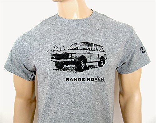 Land Kurzarm Tee (Range Rover Classic T-Shirt in Grau–Größe Klein (34bis 91,4cm)–--)