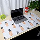Thboxes Fashion Pattern Oversized Precision Pro Gaming Mouse Pad Computer Desk Mat Yellow Pineapple 700x360