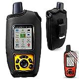 TUSITA Schutzhülle mit Gürtelclip und Displayschutzfolie für Garmin inReach SE + Plus / Explorer + Plus, Outdoor Handheld Satelliten Tracker GPS Leder PU Haut Abdeckung