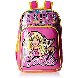 Barbie Pink and Yellow Children's Backpack (Age group :8-12 yrs)