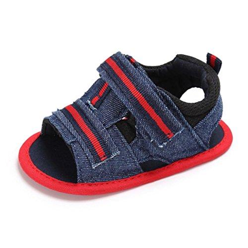 Uomogo® sandali primi passi bambina in tela 3-24 mesi (età: 6~12 mesi, rosso)