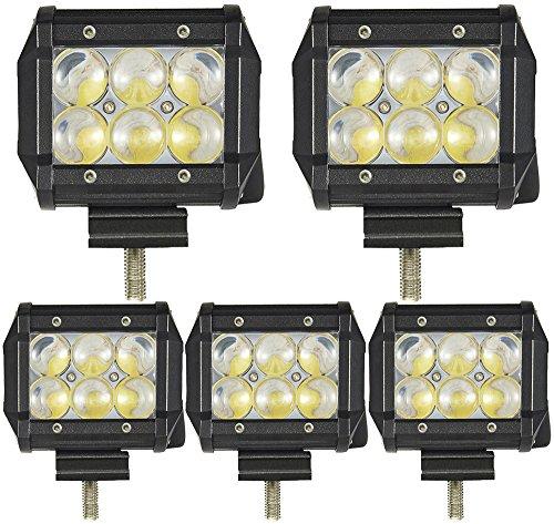 5pcs 18W Projecteur 4D Fish-eye LED Phare de Travail,ALPHA DIMA 12V 24V Voiture Feux de Jour LED Lampe de Travail Auto Imperméable IP67