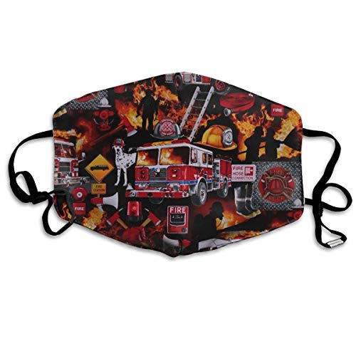 Masken,Masken für Erwachsene,Dog Firefighters Washable and Reusable Cleaning Mask,For Allergens,Exhaust Gas,Running,Cycling,Outdoor Activities