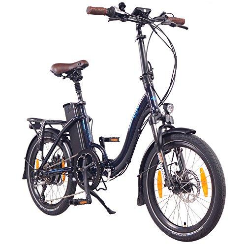 """NCM Paris (+) E-Bike, E-Faltrad, 250W, 36V 15Ah/19Ah • 540Wh/684Wh Akku, 20\"""" Zoll (Dunkel Blau +)"""
