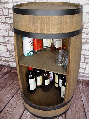 Stilvolle Minibar Fassbar HOLZ Exklusive Fass Bar mit Regal /81cm - 4