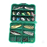 #10: Imported Set of Paillette Fishing Bait Trolling Lures Catch Hooks with Box