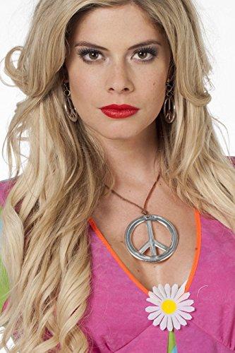 Jannes 33011 Schmuck-Set Hippie Peace-Zeiche Peace-Symbol 2 Teile Kette Ohrringe Einheitsgröße Silber