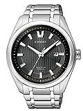 Citizen Herren-Armbanduhr XL Super Titanium Analog Quarz Titan AW1244-56E