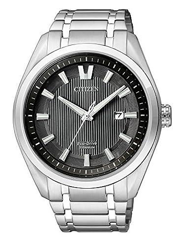 Citizen Herren-Armbanduhr XL Super Titanium Analog Quarz Titan AW1240-57E