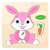 Omiky Kinder-Baby-hölzernes Puzzlespiel-pädagogisches Entwicklungsschulungs-Spielzeug (E)