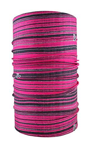 HeadLOOP Multifunktionstuch Stripes Schal Halstuch Kopftuch Mikrofaser (Pink)