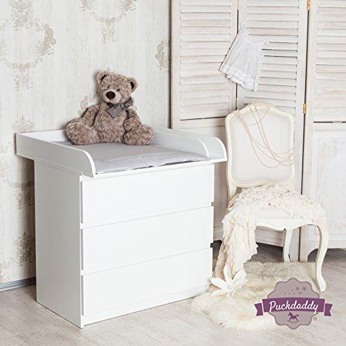 Puckdaddy ExtraRund M+Trennfach! Wickelaufsatz für IKEA Malm