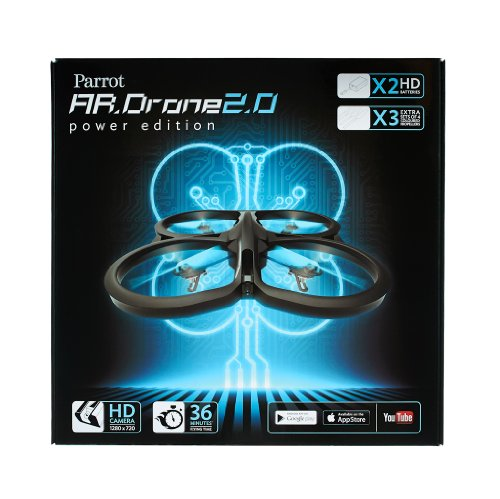 Parrot AR.Drone 2.0 Power Edition Quadrocopter (geeignet für Android-/Apple-Smartphones und -Tablets) rot - 17