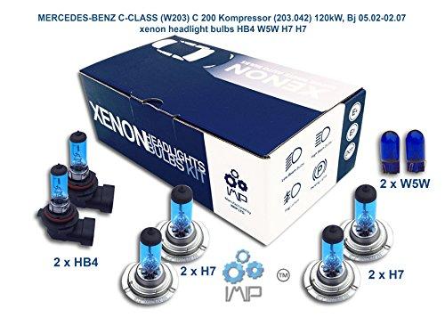 IMIP - MERCEDES-BENZ C-CLASS (W203) C 200 Kompressor (203.042) | Xenon Scheinwerfer Glühlampen Super Weiß HB4 W5W H7 H7