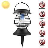Lampada Anti-zanzare ZUOAO Lampada Solare Trappola per Insetti Zanzare e Mosche Luces della Decorazione per Giardino Camera Campeggio e Pesca Insetto killer lampada Solare Nero
