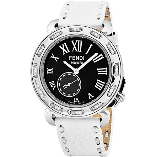 Fendi Women's Selleria 38mm White Leather Band Quartz Watch F81031DCH.SNR04