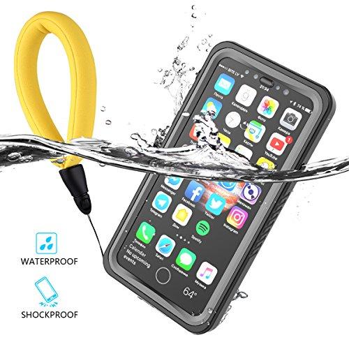 iPhone X Wasserfeste Hülle, IP68 Zertifiziert Wasserdicht Outdoor Handyhülle Stoßfest Staubdicht Kratzfestes Robuste Schutzhülle mit Displayschutz Unterwasser Tasche Case für iPhone X Schwarz + Grau