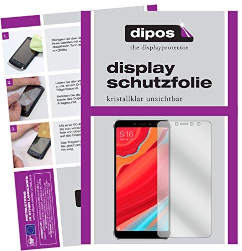 dipos I 2X Schutzfolie klar passend für Xiaomi Redmi S2 Folie Bildschirmschutzfolie