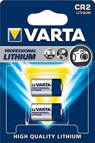 Varta - Piles Électroniques professionnal lithium CR2 - 6206 - 2 pièces