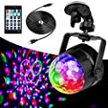 Anpro Disco Lights, Sound Activated LED Disco Ball Lights with 4m USB Cable and Suction Mount, Remote Control Party Lights for Kids Birthday, Home Party, Bedroom Decoration