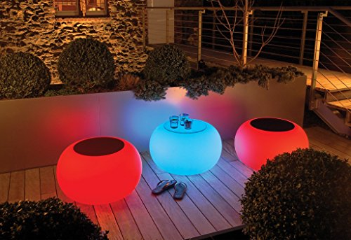 Moree Bubble LED Accu Outdoor - Table d'appoint opalin/avec fonction changement des couleurs/desserte de Ø40cm