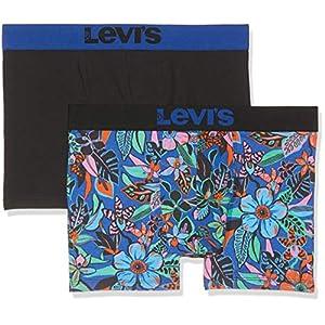 51T%2BFLPH34L. SS300  - Levi's Levis 200sf Wiggly Flower Boxer Brief 2p (Pack de 2) para Hombre