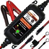 MOTOPOWER MP00205A 12V 800mA Entièrement Chargeur de Batterie Automatique/Mainteneur pour Voitures, Motos, ATV, RVS, Powersports, Bateau et Plus Encore...