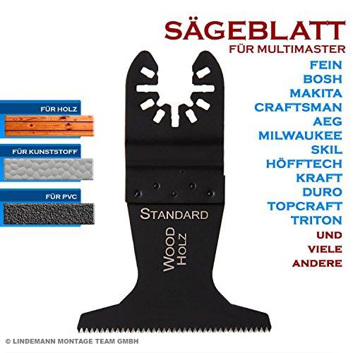 Multifunktionswerkzeug Sägeblatt 65mm für Holz, Laminat, Parkett, Kunststoff für Multimaster Fein, Bosch, Skil, Makita u.a.
