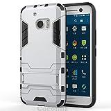 Cocomii Iron Man Armor HTC 10 Hülle [Strapazierfähig] Erstklassig Taktisch Griff Ständer Stoßfest Gehäuse [Militärisch Verteidiger] Ganzkörper Solide Case Schutzhülle for HTC 10 (I.Silver)