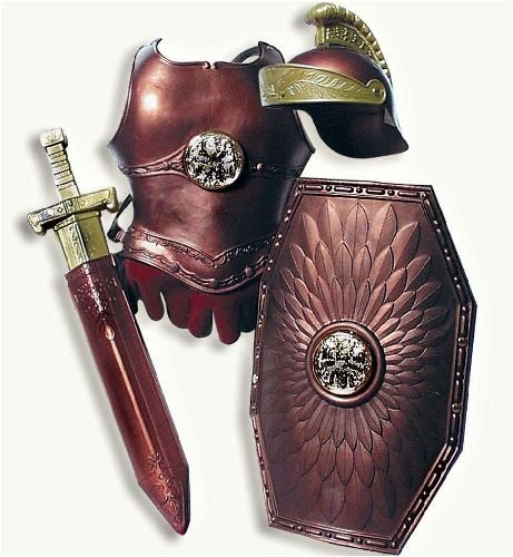 er 4tlg Helm, Brustwehr,Schild,Schwert (Spielzeug Schilde Und Schwerter)