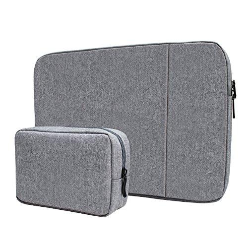 YOCOWOCO 14-15,4 Zoll Laptop-Taschen Schutzhülle Macbook Tasche mit Reißverschluss Tragetasche mit extra Beutel,Grau