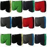 2|4|5|6|9|12 Boxershorts Herren Pesail Retroshorts Unterhosen Unterwäsche Retropants Männer in Klassischen Farben aus Baumwolle Gr.M 5 L 6 XL 7 2XL 8 3XL (XXXL, 12er)