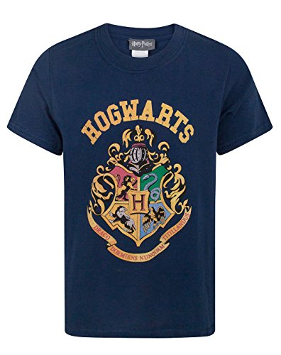 Blue Harry Potter (Harry Potter Hogwarts Crest Boy's T-Shirt (9-11 Years))