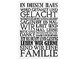 WANDTAFEL Schild Vintage Shabby Dekoschild Holzschild IN DIESEM HAUS Dekoration