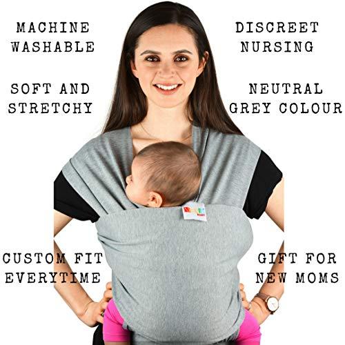 Babytragetuch aus Baumwolle in Premium Qualität | Mehrere Tragepositionen mit diesem weichem und leichtem Tragetuch von Geburt an - 3