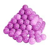 Knorrtoys 56755 - Bälleset - 100 bunte Plastikbälle/ Bälle für Bällebad, 6 cm Durchmesser, in Farbmischung pink / rosa, ohne gefährliche Weichmacher, TÜV-Rheinland Testbericht v. April 2016
