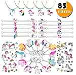 85 Pieces Crafts Gift Novelty Prizes - Unicorn Party Favor Kids' Dress-up Toys Bulk Set - Rainbow Birthday Party Supplies...