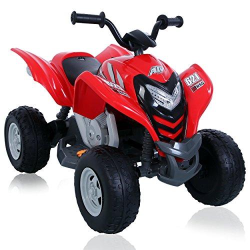 ROLLPLAY Elektro-Quad, Für Kinder ab 3 Jahren, Bis max. 35 kg, 6-Volt-Akku, Bis zu 4 km/h, Powersport ATV, Rot