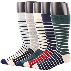 RioRiva Calcetines cortos para hombre vestir/casual o trabajar 100% algodón en caja (Hombre EU 41-48/US 7-13, BSK03X-4 pares)