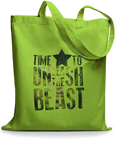 StyloBags Jutebeutel / Tasche Time To Unleash the Beast Lime