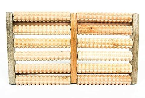 HealthPanion 1 Satz Fußmassage-Roller aus Holz , Fußroller , für Reflexzonen und Stress (1 Soaker)