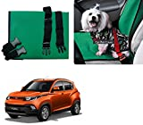 Auto Pearl - Premium Make Green Black Car Pet Single Seat Cover For - Mahindra KUV 100