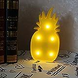 Gelbe LED Ananas Nachtlicht, für Kinderzimmer, Wohnzimmer, Hochzeit Party Decor Lampe Romantische Nachttisch Lampe Home Batteriebetrieben (Ananas)