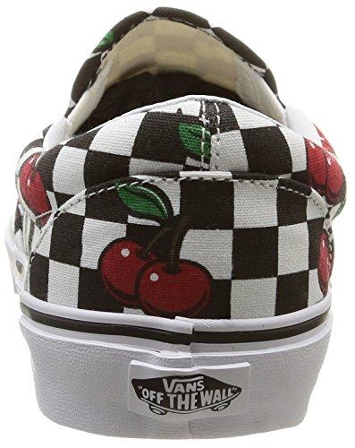 Vans U Classic Slip-On Cherry Checkers, Sneakers, Unisex Multicolore (Cherry Checkers/Black/True White)