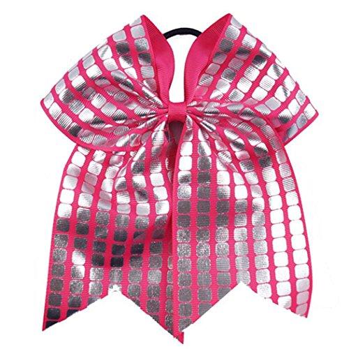 Mädchen Bowknot Haarschmuck Haarband Pferdeschwanz Halterfür Cheerleading 6 Farbe 10pcs (Cheerleading Haargummi)