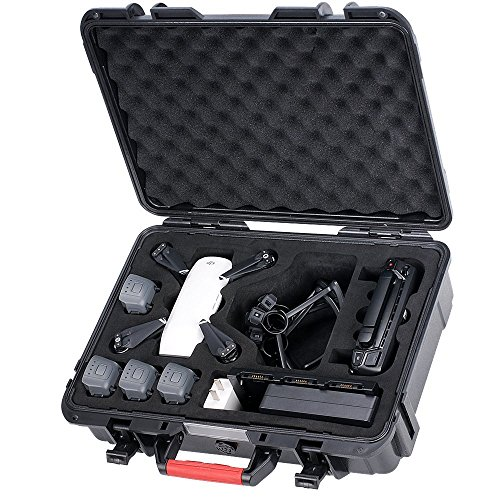 Smatree Carrying Case for DJI Spark, Waterproof Hard Case for 4 Spark batteries, remote control, battery charger and propeller protector